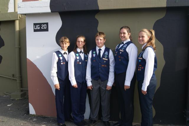 Zack du Plessis and his group of co – scouts (Zack has his priorities sorted; they are all ladies!!)