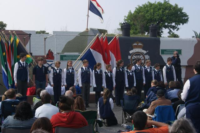 Voortrekker Parade; special achievers; Zack is 5th from the left